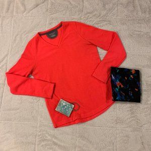 Tek Gear Neon Coral Fleece Sweater